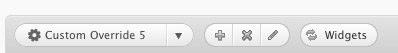 Widget Overrides Button
